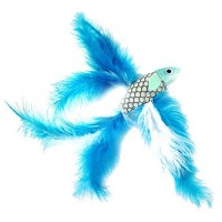 2-Fish-and-Feather-Teaser-and-Exerciser-For-Cat-and-Kitten-Cat-Toy-Interactive-Cat-Wand-0-3