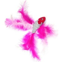2-Fish-and-Feather-Teaser-and-Exerciser-For-Cat-and-Kitten-Cat-Toy-Interactive-Cat-Wand-0-4