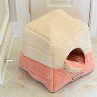 Armarkat-Cat-Bed-C07CCSMH-Orange-and-Beige-0-0
