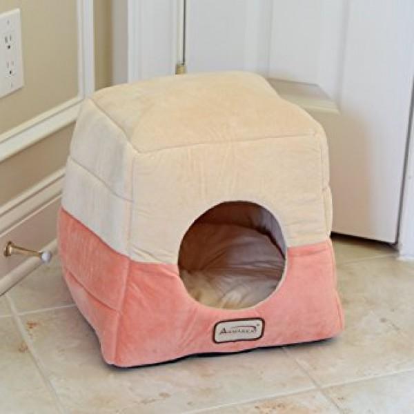 Armarkat-Cat-Bed-C07CCSMH-Orange-and-Beige-0-1