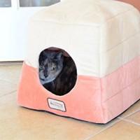 Armarkat-Cat-Bed-C07CCSMH-Orange-and-Beige-0-2