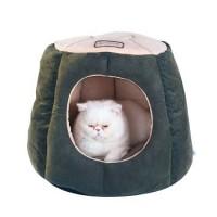 Armarkat-Cat-Bed-Laurel-Green-and-Beige-0