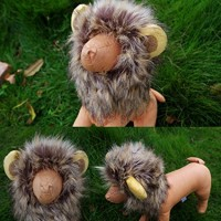 Bassion-Pet-Halloween-Cosplay-Costume-Lion-Mane-Wig-Hat-for-Cat-or-Small-Dog-Dress-up-with-Ears-0-0