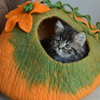 Cat-Cave-Bed-Handmade-Felted-Wool-House-for-Cats-and-Kittens-Original-Cat-Caves-By-Earthtone-Solutions-Radiant-Realm-0-2