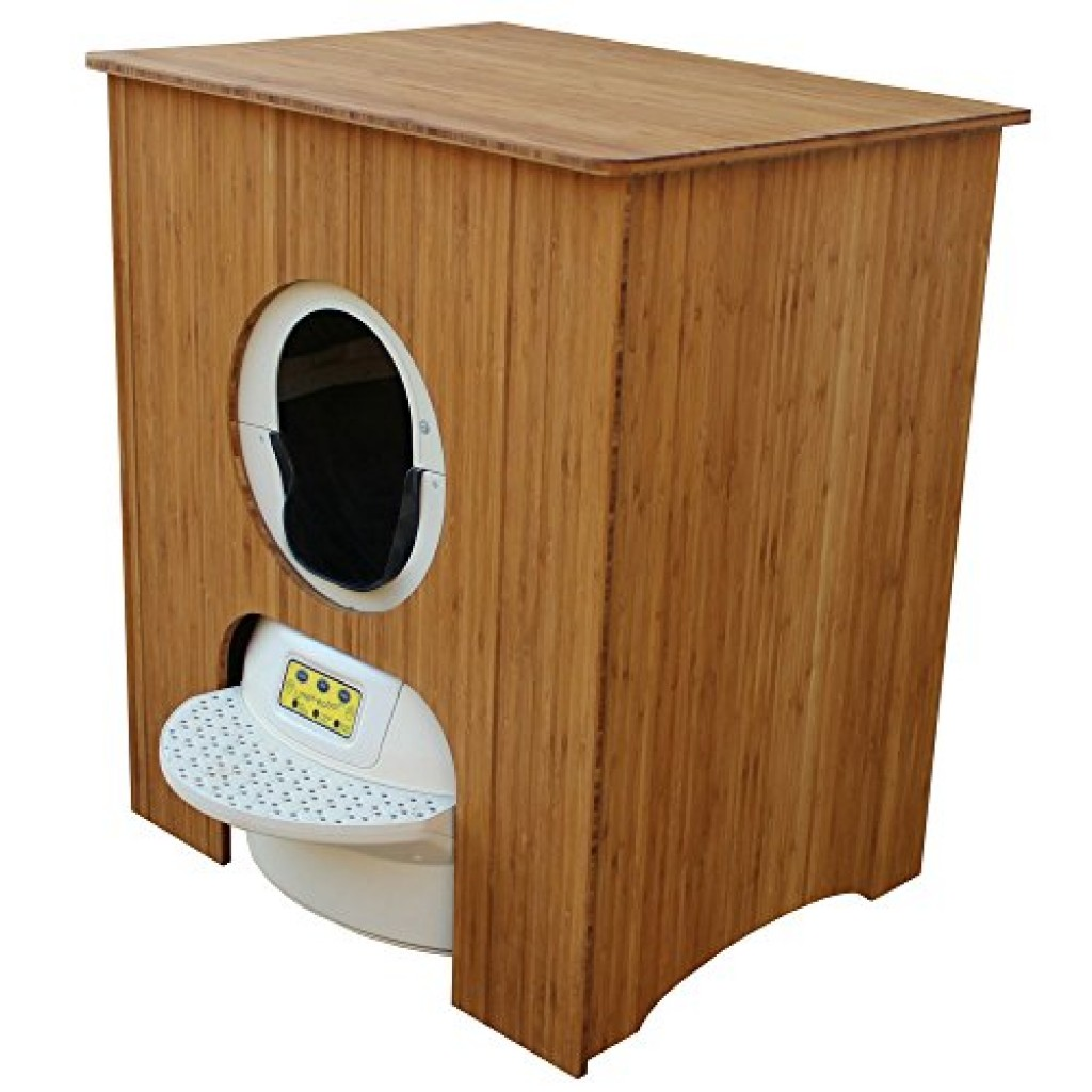 Concealer Cabinet For Litter Robot Bamboo Ply Purrfect