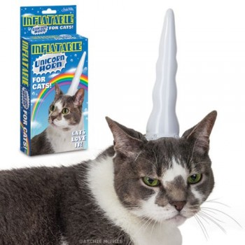 Accoutrements-Inflatable-Unicorn-Horn-for-Cats-0