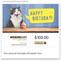 Amazon eGift Card – Birthday Cat