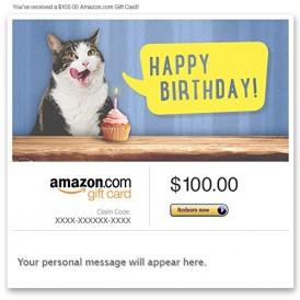 Amazon eGift Card – Birthday Cat