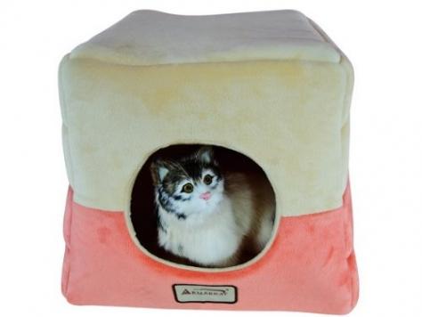 Armarkat-Cat-Bed-C07CCSMH-Orange-and-Beige-0