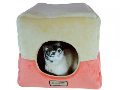 Armarkat-Cat-Bed-C07CCSMH-Orange-and-Beige-0