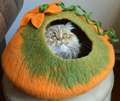 Cat-Cave-Bed-Handmade-Felted-Wool-House-for-Cats-and-Kittens-Original-Cat-Caves-By-Earthtone-Solutions-Radiant-Realm-0