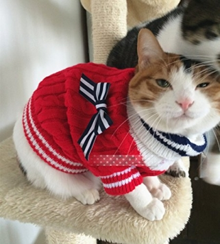 Cats-sweater-sailor-style-puppy-dog-pets-pullover-clothes-for-kitten-teddy-chihuahua-Red-M-0