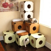 Catty Stacks Modular Cat Condos, Pistachio Green