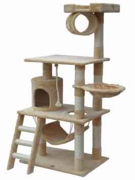 Go-Pet-Club-62-Cat-Tree-Condo-Furniture-Beige-Color-0