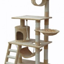 Go Pet Club 62″ Cat Tree Condo Furniture Beige Color