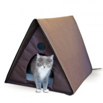 K&H Manufacturing Outdoor Heated Multi- Kitty A-Frame 35-Inch by 20.5-Inch by 20-Inch 40 Watts