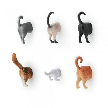 Kikkerland-Cat-Butt-Magnets-Set-of-6-MG53-0