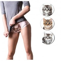 Girls Ladies Womens Underwear Sexy Cat Printed Panty Smooth Knickers Briefs Sexy Gift