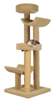 Molly-and-Friends-Step-Stool-Sleeper-Premium-Handmade-4-Tier-Cat-Tree-with-Sisal-Model-2323-Beige-0