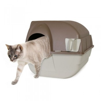 Omega-Paw-Self-Cleaning-Litter-Box-Regular-Taupe-0