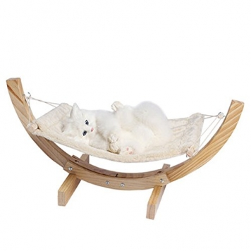 PoodleHouse-Comfortable-Cat-kitten-Hammock-Bed-Wooden-Material281412-in-Beige-0