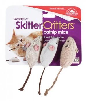 SmartyKat-Skitter-Critters-Cat-Toy-Catnip-Mice-3-Pack-0