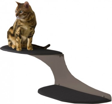 The-Refined-Feline-Cat-Cloud-Cat-Shelves-in-Titanium-Left-Facing-0