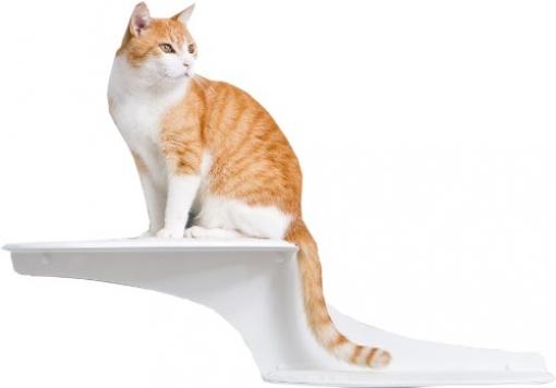 The-Refined-Feline-Cat-Cloud-Cat-Shelves-in-White-Left-Facing-0