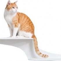 The Refined Feline Cat Cloud Cat Shelves in White, Left Facing