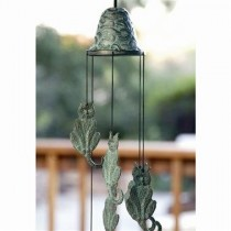 Wind Chime – Patio Decor Cat Themed Brass Wind Chime